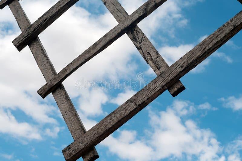 Ξύλινο φτερό από τον παλαιό ανεμόμυλο στοκ φωτογραφίες με δικαίωμα ελεύθερης χρήσης