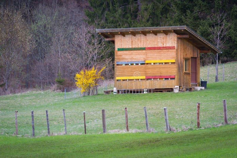 Ξύλινο beehouse στοκ φωτογραφία με δικαίωμα ελεύθερης χρήσης