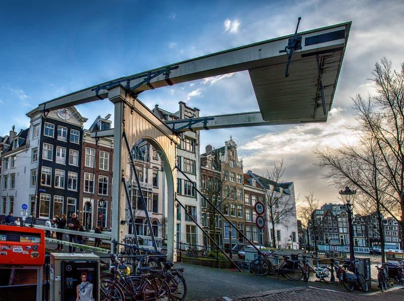 Ξύλινο Drawbridge, Άμστερνταμ στοκ φωτογραφία με δικαίωμα ελεύθερης χρήσης
