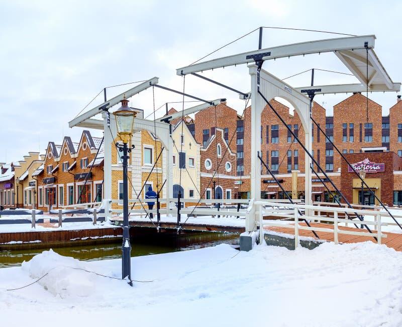 Ξύλινο drawbridge στοκ φωτογραφίες με δικαίωμα ελεύθερης χρήσης