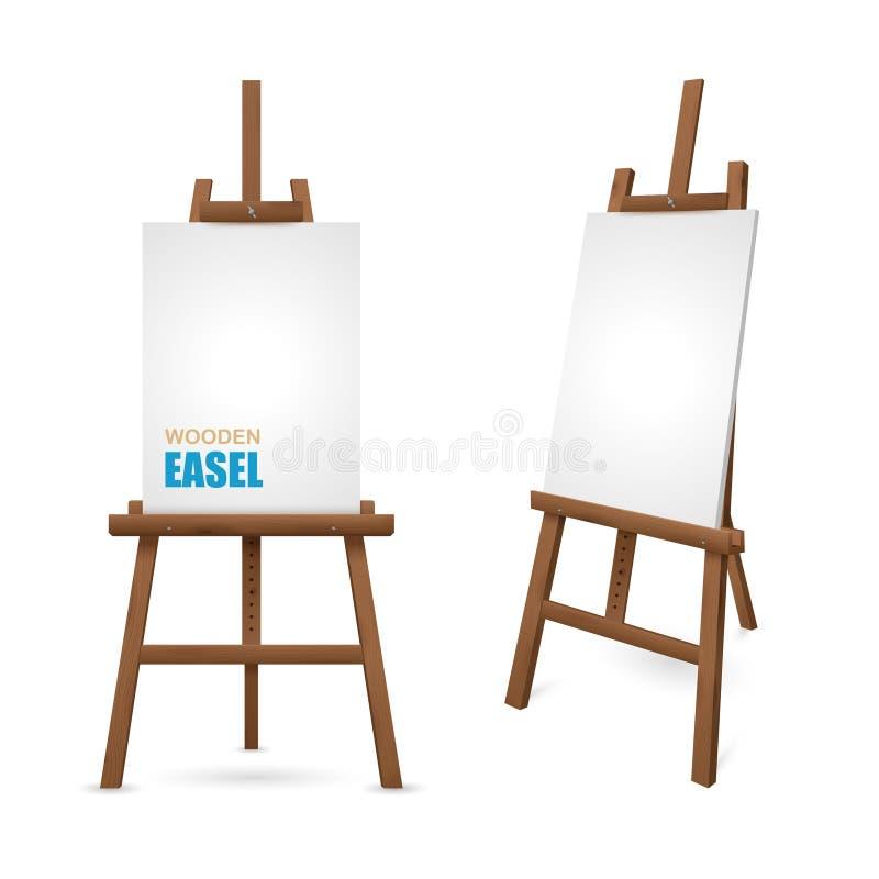 Ξύλινο Easel καλλιτεχνών ελεύθερη απεικόνιση δικαιώματος