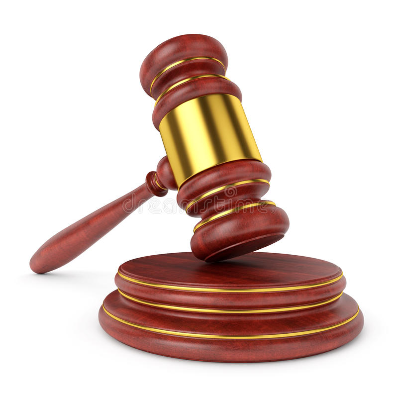 Ξύλινο gavel δικαστών απεικόνιση αποθεμάτων