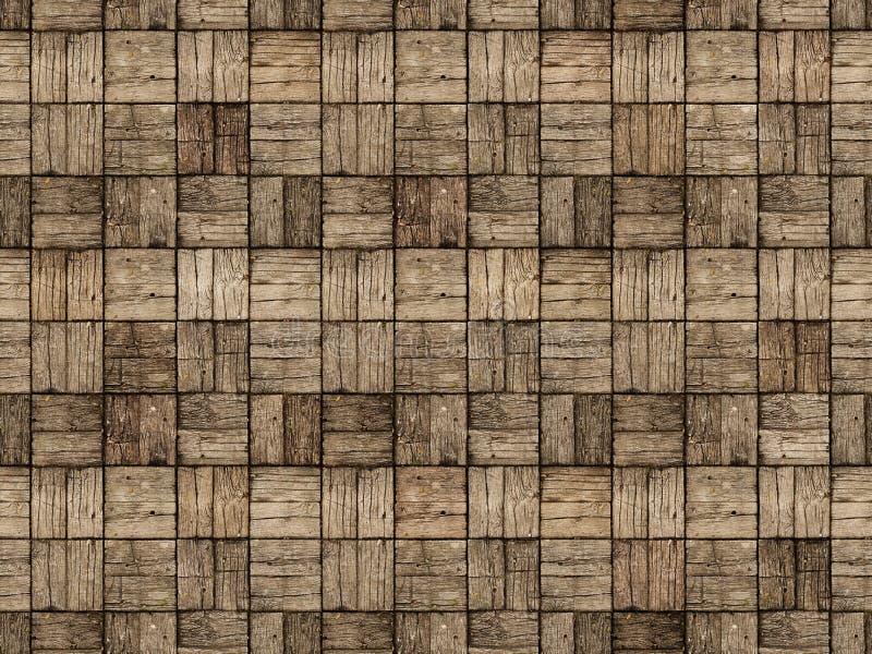 Ξύλινο Patio στο ύφος παρκέ με εναλλασσόμενο Woodgrain στοκ εικόνες με δικαίωμα ελεύθερης χρήσης
