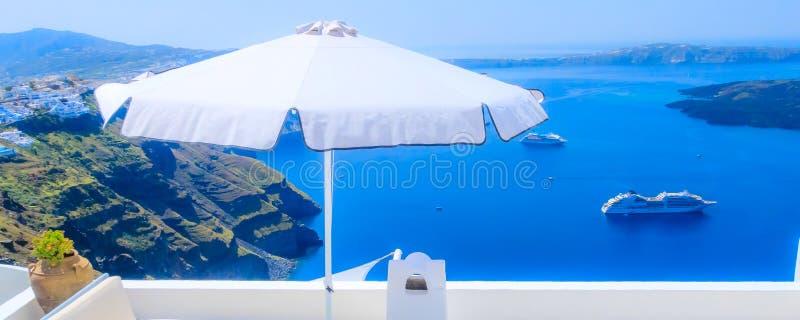 Οία Σαντορίνη Ελλάδα, τοπίο καλντέρα στοκ εικόνα με δικαίωμα ελεύθερης χρήσης