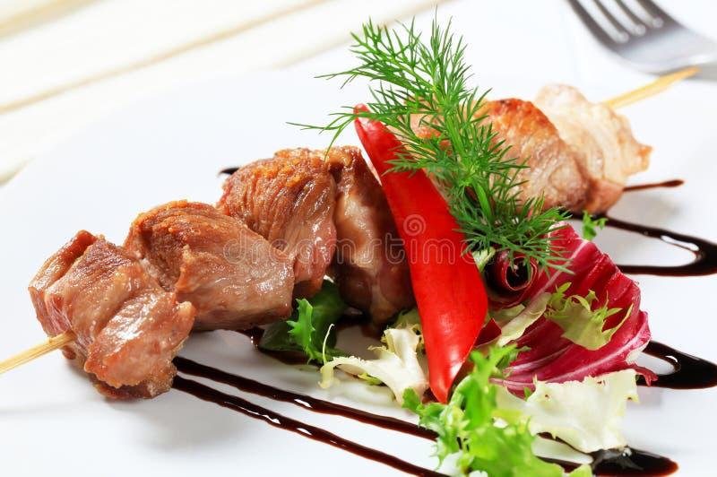 οβελίδιο χοιρινού κρέατος στοκ εικόνες με δικαίωμα ελεύθερης χρήσης