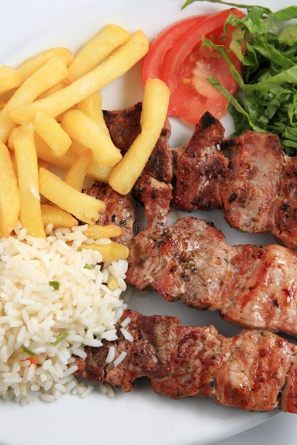 Οβελίδιο κρέατος χοιρινού κρέατος στοκ εικόνα