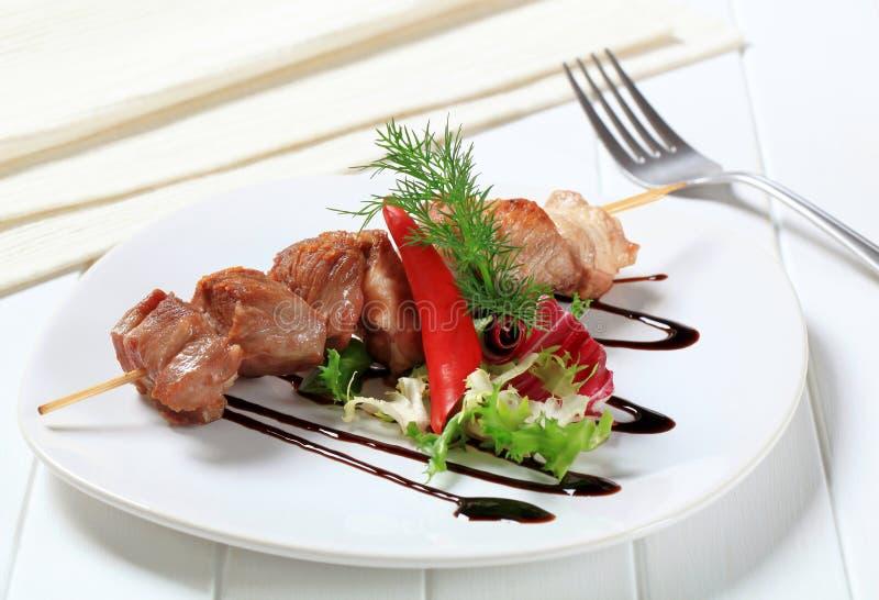 Οβελίδιο χοιρινού κρέατος στοκ φωτογραφία με δικαίωμα ελεύθερης χρήσης