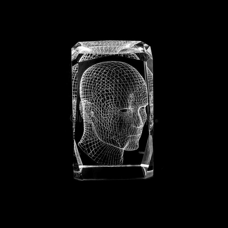 Ογκομετρική χάραξη λέιζερ μέσα στο γυαλί στοκ φωτογραφίες