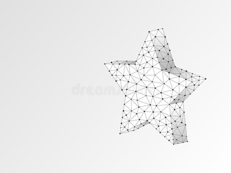 Ογκομετρικό τρισδιάστατο αστέρι με πέντε ακτίνες Διανυσματικό Polygonal διαστημικό χαμηλό πολυ αστέρι origami στην έννοια ουρανού απεικόνιση αποθεμάτων