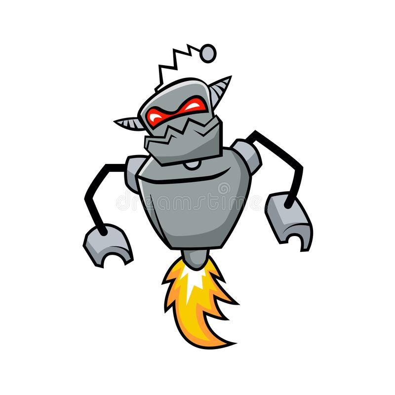 Ογκώδες ρομπότ Cyborg Κακό ρομπότ ελεύθερη απεικόνιση δικαιώματος