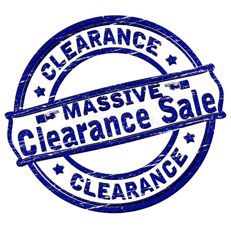 ογκώδης πώληση εκκαθάρι&sigm διανυσματική απεικόνιση