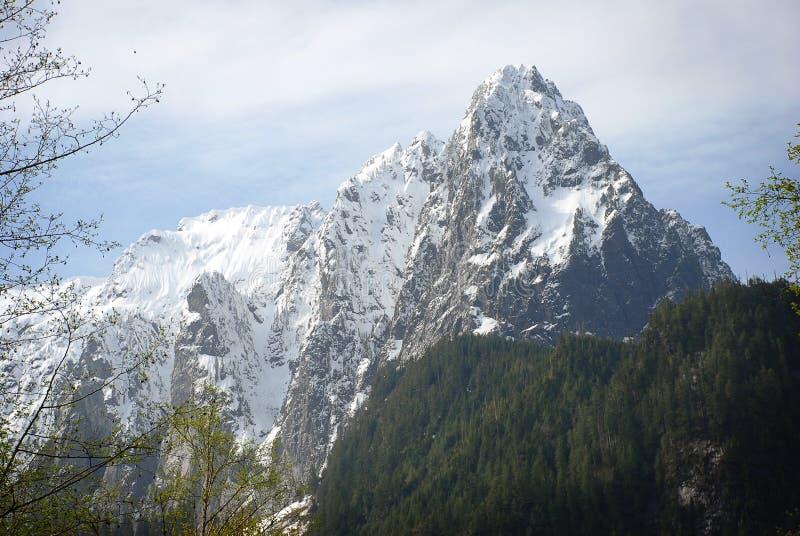 Ογκώδεις χιονώδεις απότομοι βράχοι βουνών στοκ εικόνες