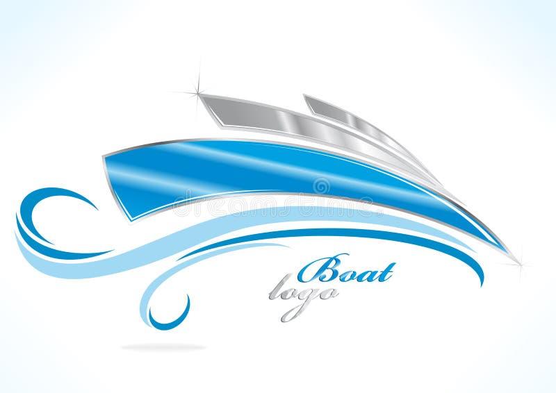 λογότυπο επιχειρησιακών βαρκών διανυσματική απεικόνιση