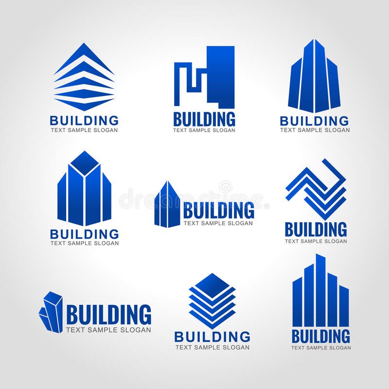 λογότυπο μπλε ουρανού τόνου οικοδόμησης 9 απεικόνιση αποθεμάτων