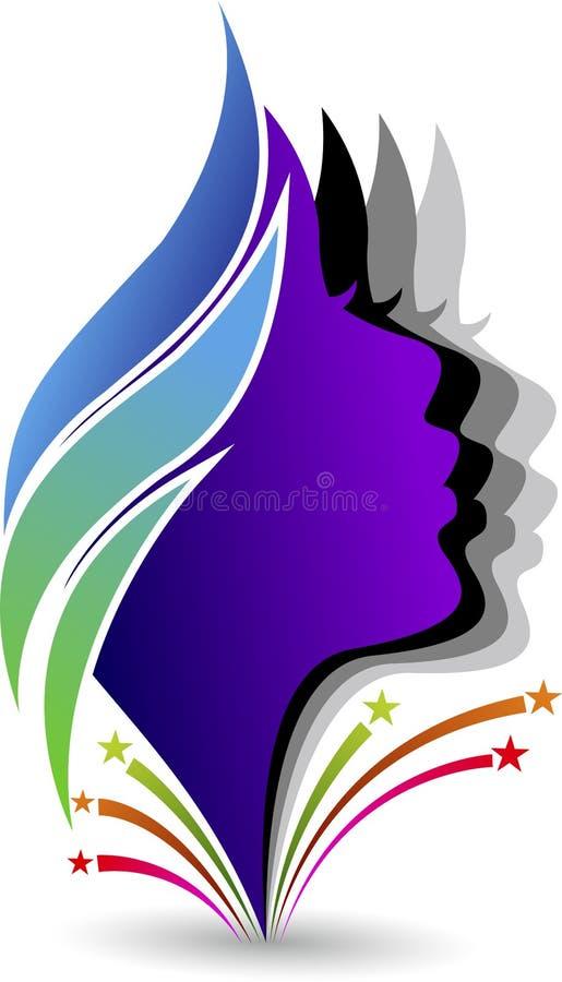 λογότυπο προσώπων διανυσματική απεικόνιση