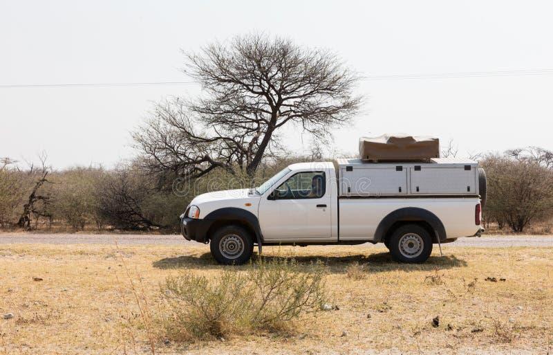 Οδήγηση ανοιχτών φορτηγών στη Μποτσουάνα στοκ εικόνες