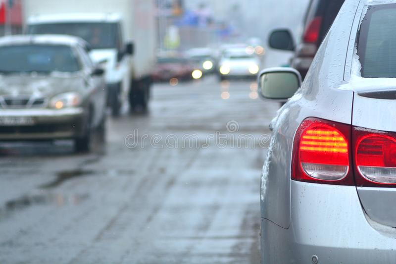 Οδήγηση χειμερινού άσχημου καιρού στοκ εικόνες