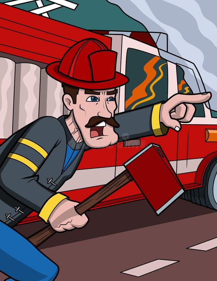 οδηγίες εθελοντών πυροσβεστών απεικόνιση αποθεμάτων