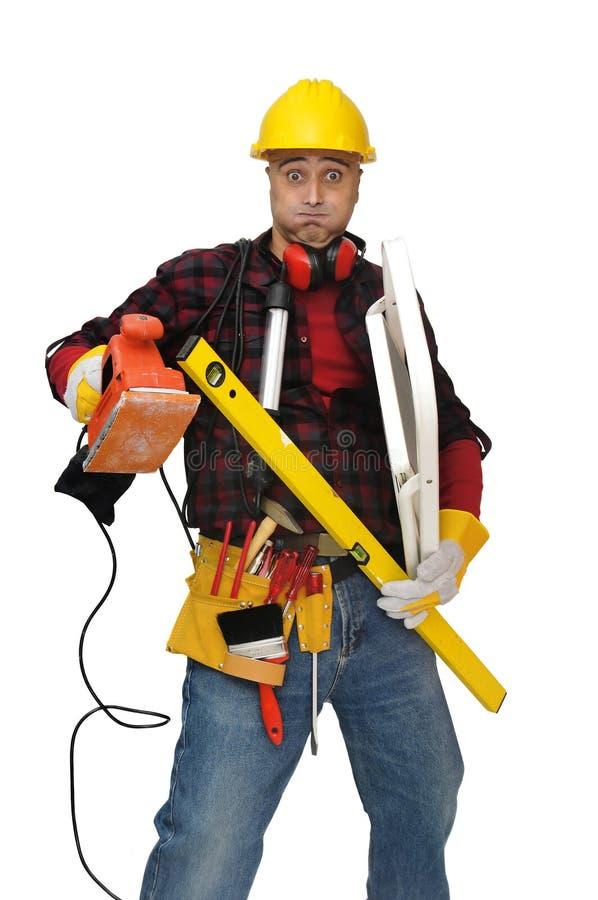 Download οδηγίες στοκ εικόνα. εικόνα από τζιν, εργαλεία, καπέλο - 13183765