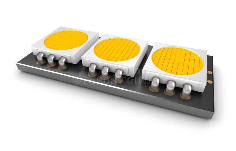 οδηγημένο λαμπτήρας φως τσιπ διανυσματική απεικόνιση