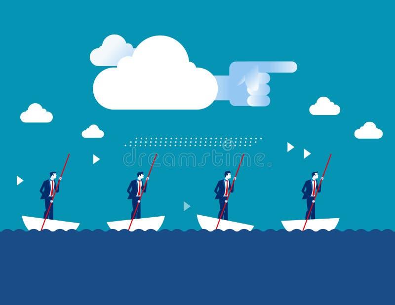 οδηγός Επιχείρηση και κατεύθυνση Διάνυσμα επιχειρησιακών επιχειρήσεων έννοιας διανυσματική απεικόνιση