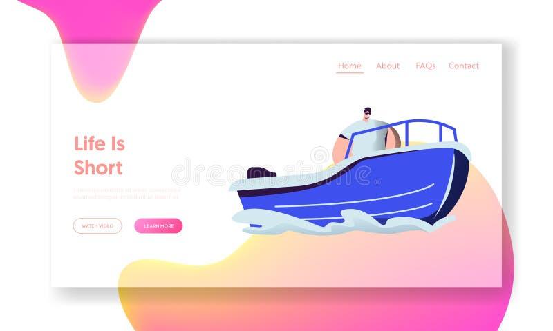 Οδηγώντας βάρκα μηχανών ατόμων στη θάλασσα Ελεύθερος χρόνος νερού ελεύθερη απεικόνιση δικαιώματος