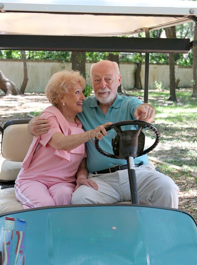 οδηγώντας γκολφ κάρρων πί&sig στοκ φωτογραφία