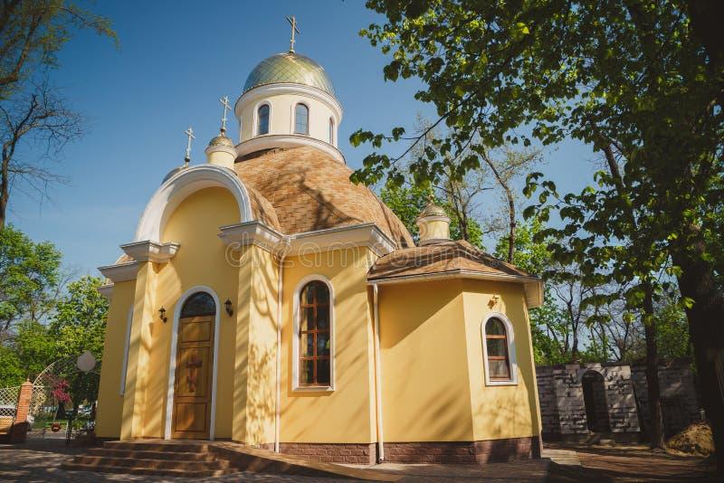 ΟΔΗΣΣΟΣ, ΟΥΚΡΑΝΙΑ - 1 ΜΑΐΟΥ 2015: Ουκρανική ορθόδοξη χριστιανική εκκλησία Αγίου Luka και του μεγάλου μάρτυρα Valentina στοκ φωτογραφίες με δικαίωμα ελεύθερης χρήσης