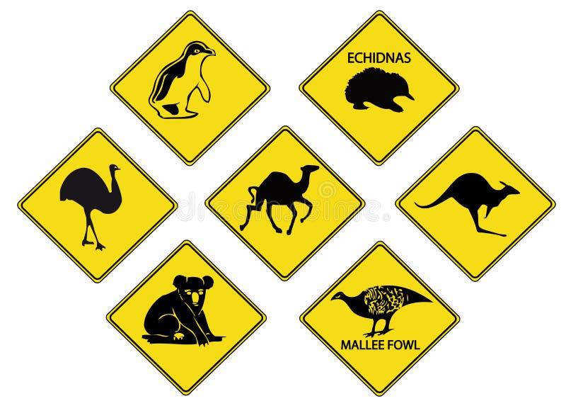 οδικά σημάδια Αυστραλών διανυσματική απεικόνιση