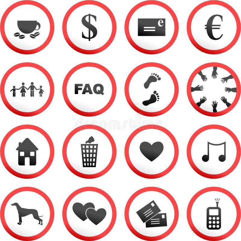 οδικά στρογγυλά σημάδια ελεύθερη απεικόνιση δικαιώματος