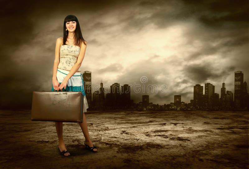 οδική γυναίκα στοκ φωτογραφία