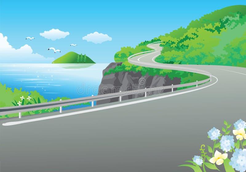 οδική θάλασσα διανυσματική απεικόνιση
