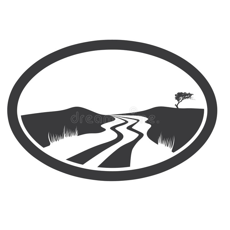 οδική κοιλάδα διανυσματική απεικόνιση