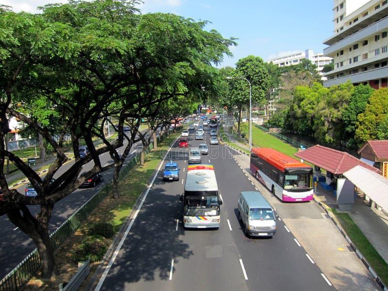 οδική σκηνή Σινγκαπούρη στοκ φωτογραφία με δικαίωμα ελεύθερης χρήσης