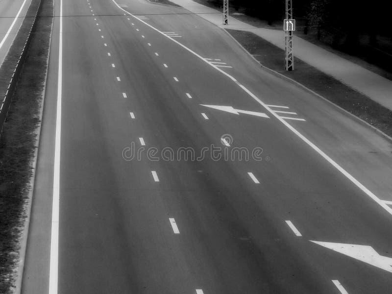 Οδική τοπ άποψη, νυχτερινή όραση στοκ εικόνες