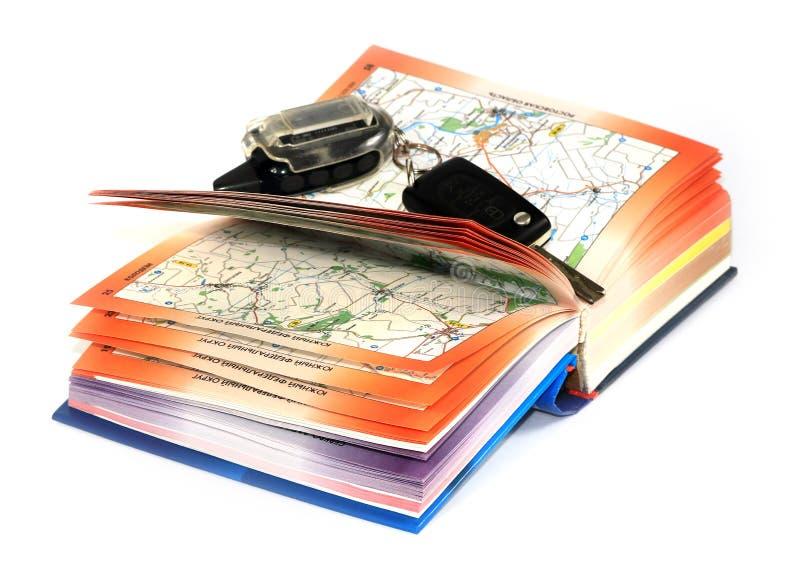 Οδικοί χάρτες και κλειδί στοκ φωτογραφίες με δικαίωμα ελεύθερης χρήσης