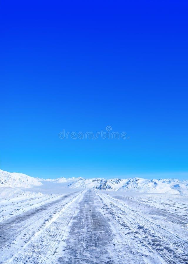οδικός χειμώνας στοκ εικόνα με δικαίωμα ελεύθερης χρήσης