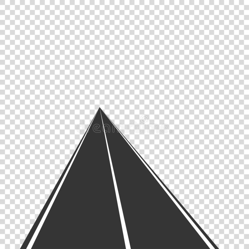 οδικό διανυσματικό εικονίδιο που οδηγεί πίσω από το horisont απεικόνιση αποθεμάτων