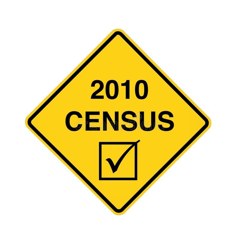οδικό σημάδι απογραφής το διανυσματική απεικόνιση