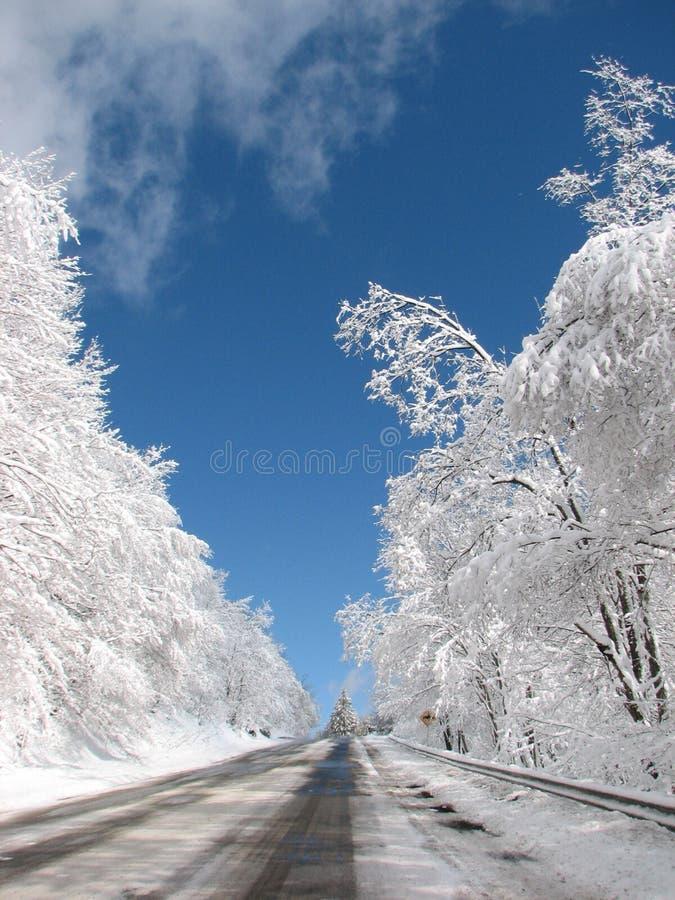 οδικό χιόνι στοκ εικόνα με δικαίωμα ελεύθερης χρήσης