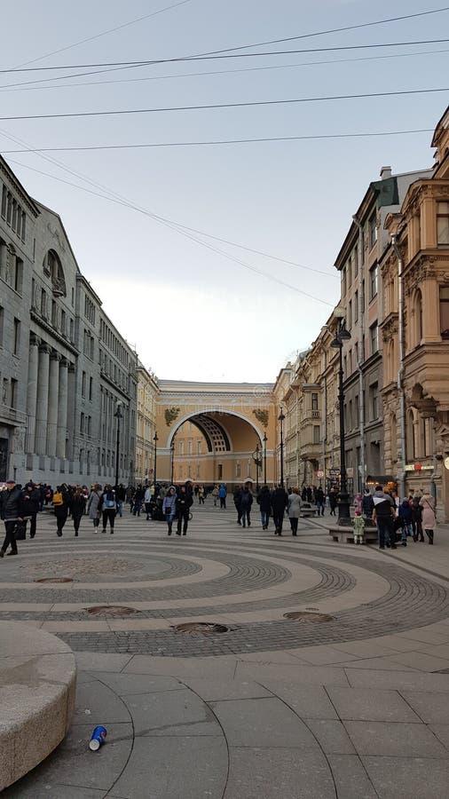 Οδοί Αγίου Πετρούπολη στοκ φωτογραφία με δικαίωμα ελεύθερης χρήσης