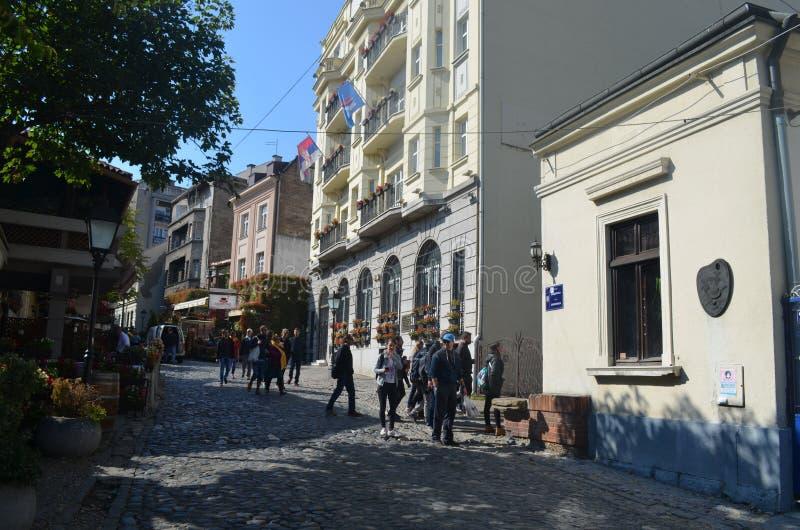 Οδοί Βελιγραδι'ου, η πρωτεύουσα της Σερβίας στοκ φωτογραφία με δικαίωμα ελεύθερης χρήσης