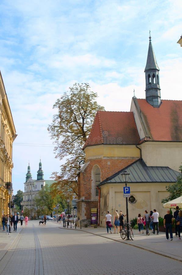 Οδοί της Κρακοβίας στοκ εικόνες