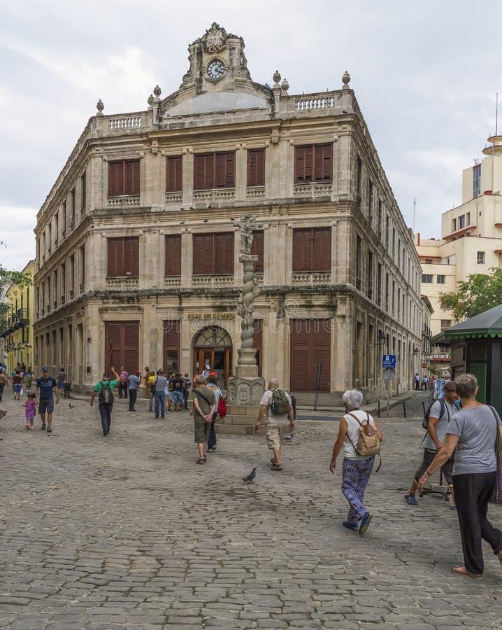 Οδοί της παλαιάς Αβάνας στοκ φωτογραφία με δικαίωμα ελεύθερης χρήσης