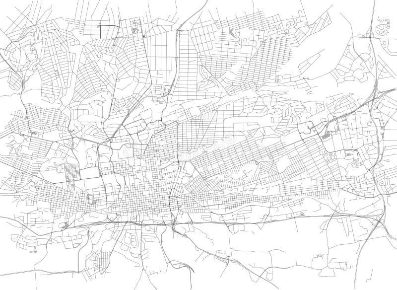 Οδοί του Γιοχάνεσμπουργκ, χάρτης πόλεων, Νότια Αφρική διανυσματική απεικόνιση