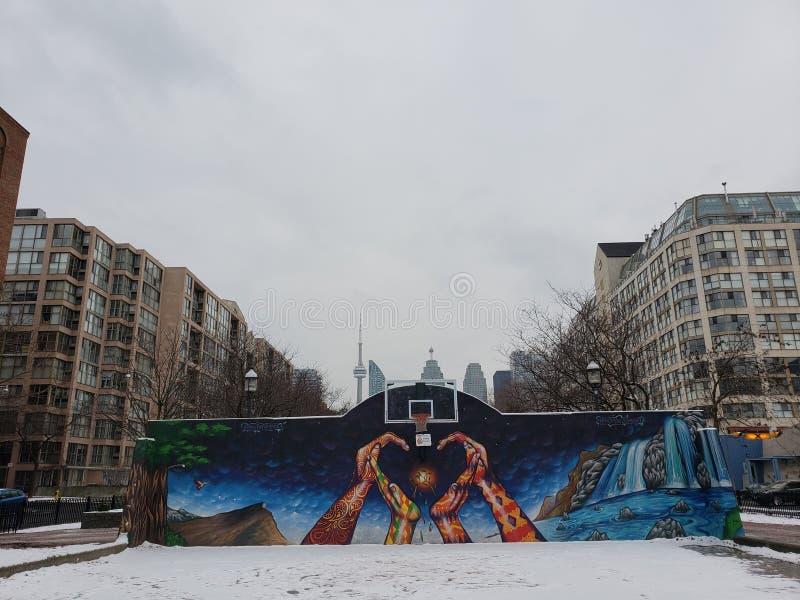 Οδοί του Τορόντου το χειμώνα στοκ φωτογραφία με δικαίωμα ελεύθερης χρήσης