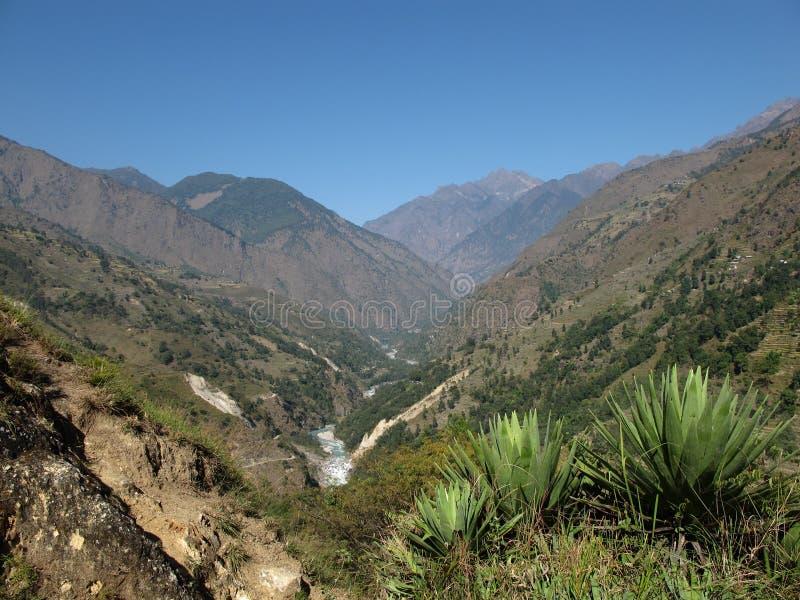 οδοιπορία του Νεπάλ στοκ φωτογραφία με δικαίωμα ελεύθερης χρήσης