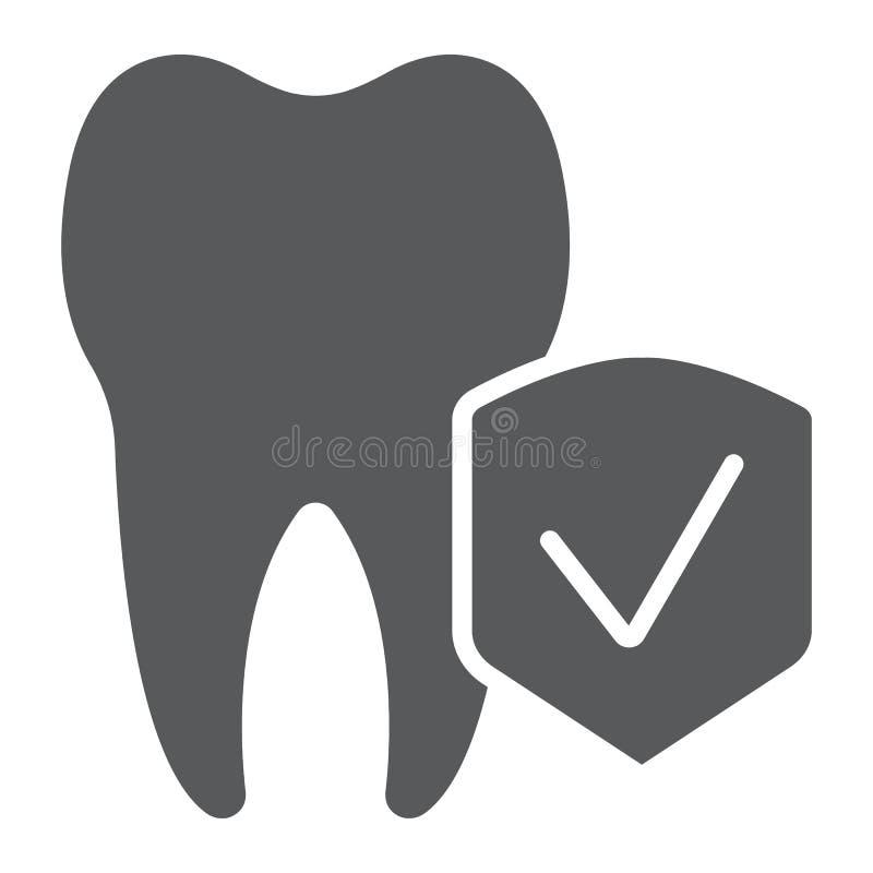Οδοντικές ασφαλιστικό glyph εικονίδιο, ιατρικός και υγεία, οδοντικό σημάδι προσοχής, διανυσματική γραφική παράσταση, ένα στερεό σ απεικόνιση αποθεμάτων