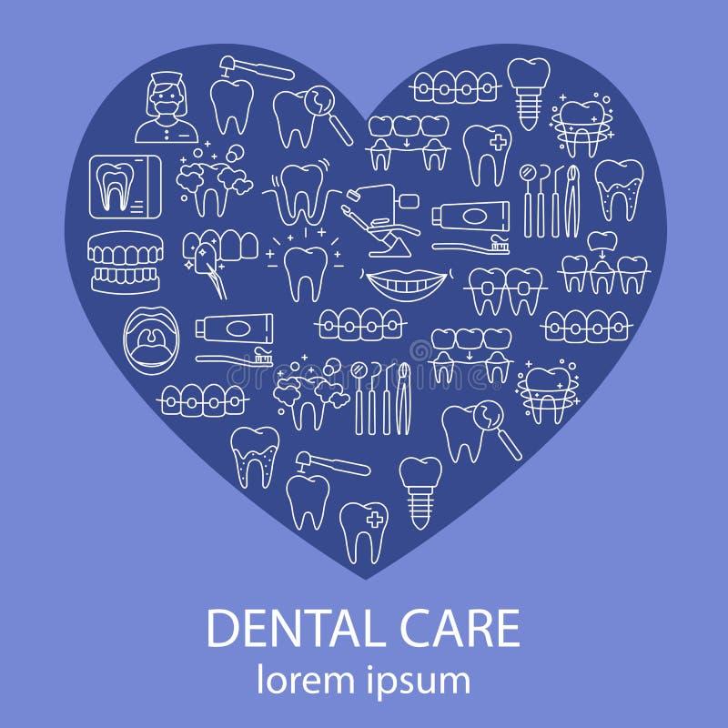 Οδοντική αφίσα προσοχής διανυσματική απεικόνιση