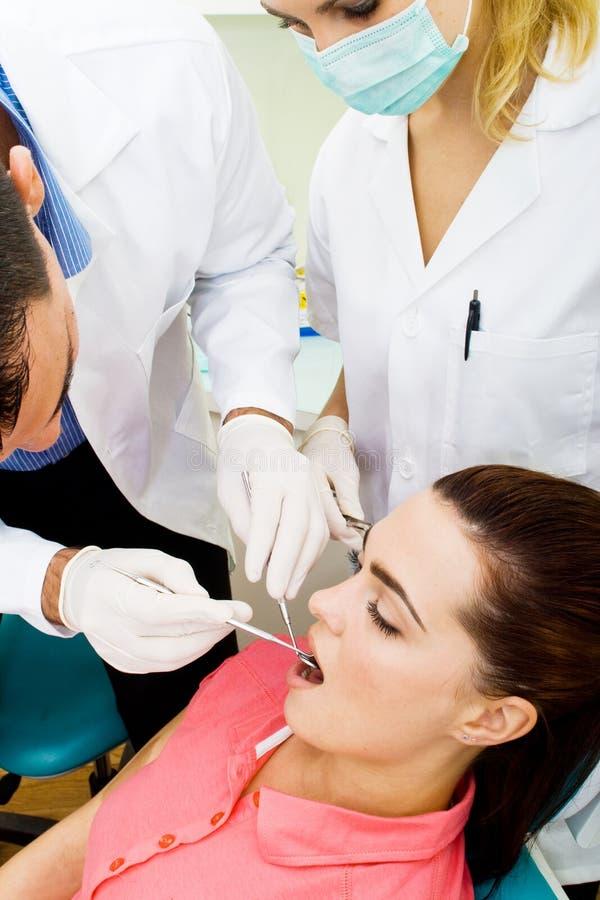 Οδοντική επίσκεψη στοκ φωτογραφίες
